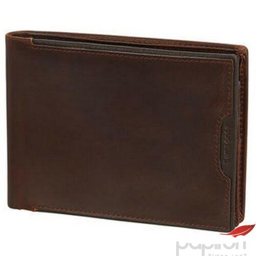Samsonite pénztárca férfi bőr Oleo SLG/007 - B 7CC+VFL+C+2C+W 108369/1251 - Dark Brown Sötétbarna