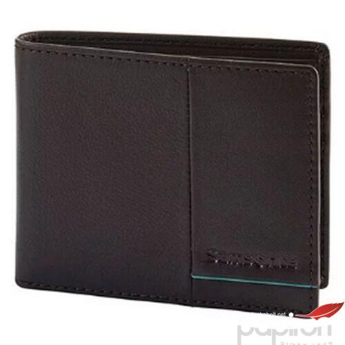 Samsonite pénztárca Outline 2 SLG 108660 sötétbarna/türkiz