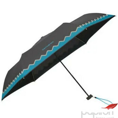 Samsonite esernyő C Collection 3 sect. ULTRA MINI FLAT 108959/7195 Fekete/türkiz fényvisszaverő