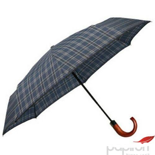 Samsonite esernyő WOOD Classic S 3 sect. auto O/C CROOK 108978/7198 Fekete/Kék skót