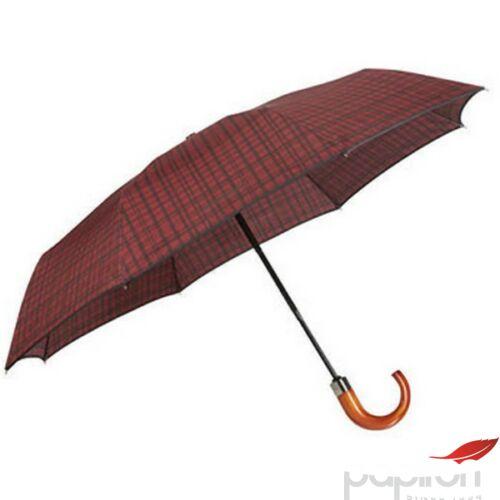Samsonite esernyő WOOD Classic S 3 sect. auto O/C CROOK 108978/7199 Bordó skót