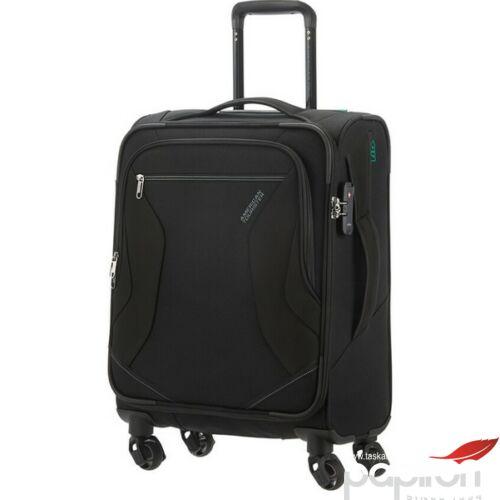 American Tourister kabinbőrönd Eco Wanderer 55/20 TSA 125328/1041 fekete, 4 kerekű, textil