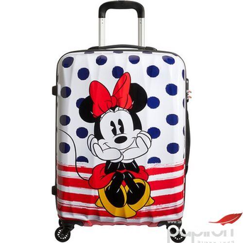 American Tourister bőrönd Alfatwist Disney Legends SPIN 65/24 64479/9071 Minnie Blue Dots