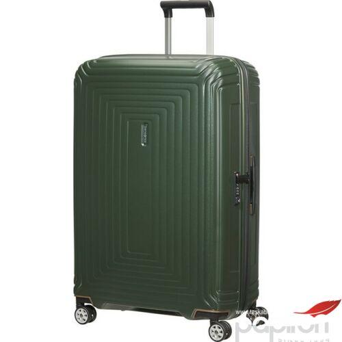 Samsonite bőrönd 55/20 Neopulse spinner 4 kerekű 105646/8445 matt sötét Oliva 5 év garanc