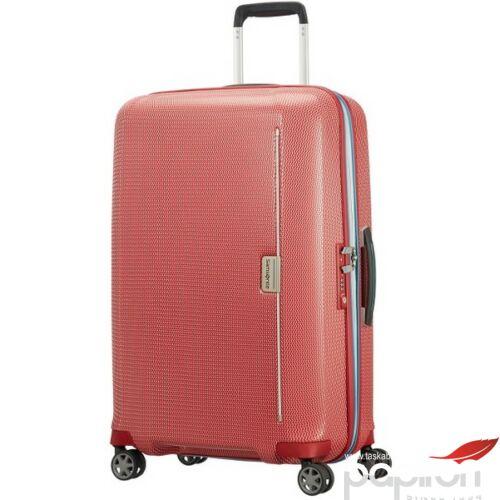 Samsonite bőrönd 69/25 Mixmesh 45x69x29 3,4kg 4kerekű 106746/7085 piros/óceánkék