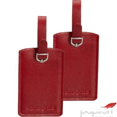 Samsonite bőröndcímke rectangle Luggage tag x2 121307/1726 Piros