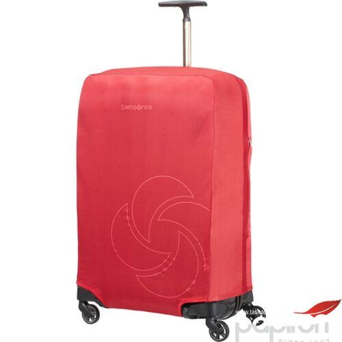 Samsonite bőröndhuzat L/M foldable Luggage cover 121223/1726 Piros
