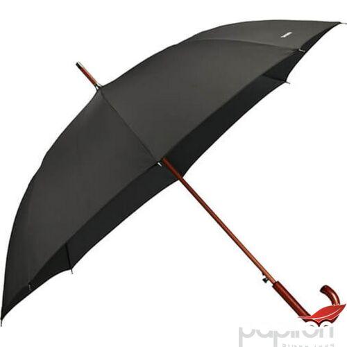 Samsonite esernyő automata WOOD Classic S / STICK Man auto open 108980/1041 - Black, fekete CK3x09002