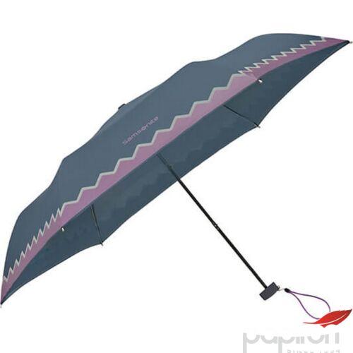 Samsonite esernyő Manual C Collection / 3 sect. MINI FLAT 108959/7196-Dark Blue/Purple Reflective
