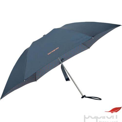 Samsonite esernyő Manual Up way/3sect. Manual FLAT 108944/7188-Dark Blue/Mandarin Orange