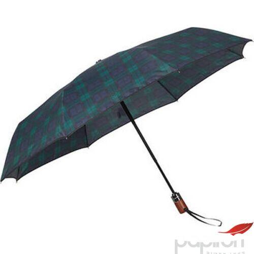Samsonite esernyő WOOD Classic S STICK Man auto open 108979/7198 Fekete/Kék skót