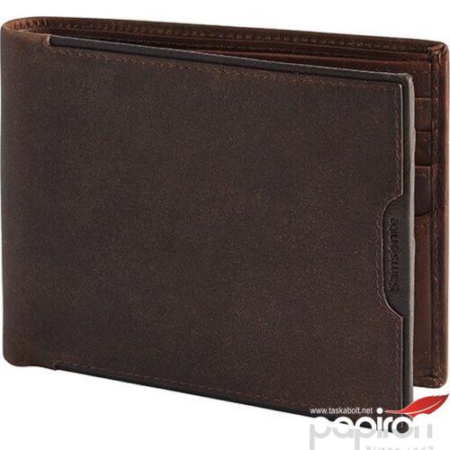 Samsonite pénztárca férfi bőr Oleo SLG/005 - B 8CC+2C 108368/1251 - Dark Brown Sötétbarna