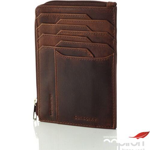 Samsonite pénztárca férfi Oleo Slg 727-All In One Wallet Zip 130773/1251-Dark Brown
