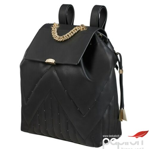 Samsonite hátitáska női Satiny 2.0 backpack QLT 27x29x12cm 119733/7668 Black Quilted - Fekete