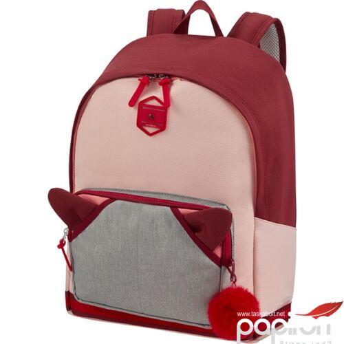 Samsonite hátitáska Sam school spirit backpack L 123781/8089 burgundy pink mascot