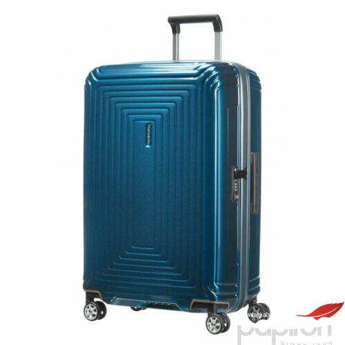 Samsonite bőrönd 75/28 Neopulse 44Dx003 4kerekű 75/28 65754/1541 Metallic Blue 5év garancis