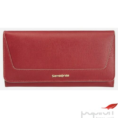 Samsonite pénztárca Női Lady Saffiano II SLG 19,4x10,4x2 66618/1194 - Cherry Red - Meggy piros