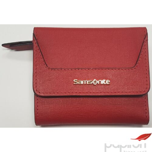 Samsonite pénztárca Női Lady Saffiano II SLG 9,5x8,5x2 88323/1194 - Cherry Red - Meggy piros