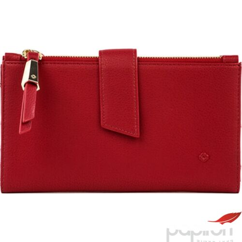 Samsonite pénztárca Női Satiny SLG 333 L F W+DBL ZIPPER 104395/1785 - Scarlet Red 19,2x2x9,6cm