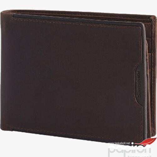 Samsonite pénztárca férfi bőr Oleo SLG w 6cc+hfl+2w+2c 110785/1251 sötétbarna