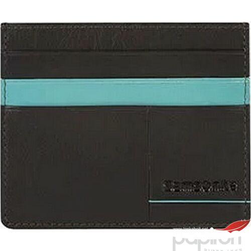 Samsonite pénztárca Outline 2 SLG 10,3x8,6x0,3 103883/6658 sötétbarna/türkiz